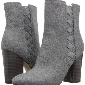 Nine West Carensa Ankle Boot in light gray wool